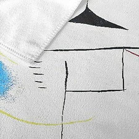 """Toallas de Playa Toallas de baño de Microfibra de Gran tamaño,Pintura de Joan Miro sobre Fondo Blanco, 1927,Toalla Suave y Ligera para Acampar, Viajar, Nadar, Hacer Yoga, Gimnasio, 52 """"x 32"""""""