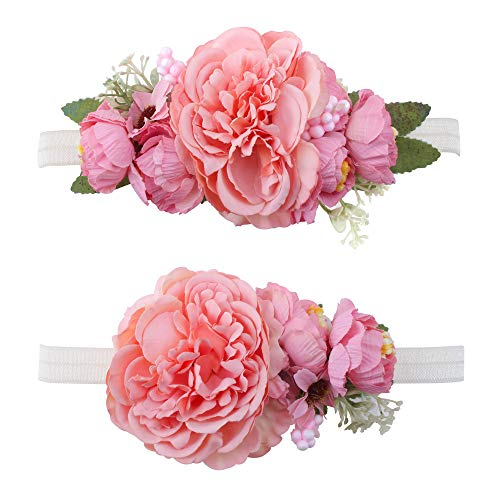 Cherrboll Baby Flower Headbands Floral Crown Hair Band Newborn Infant Toddlers