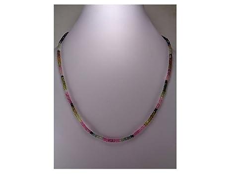 Excelente calidad auténtica Multi turmalina facetado perlas ...