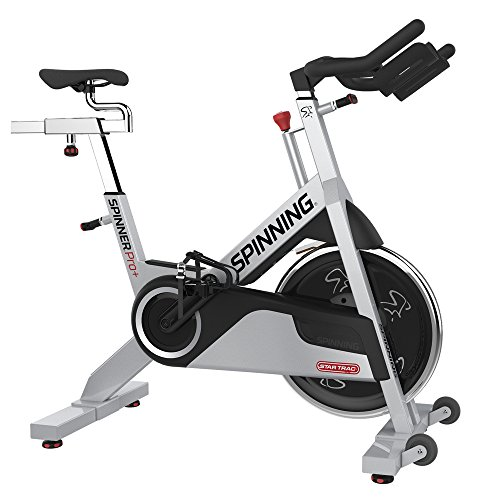 Spinning Spinner PRO+ Indoor Cycling Bike with Four DVDs, Silver