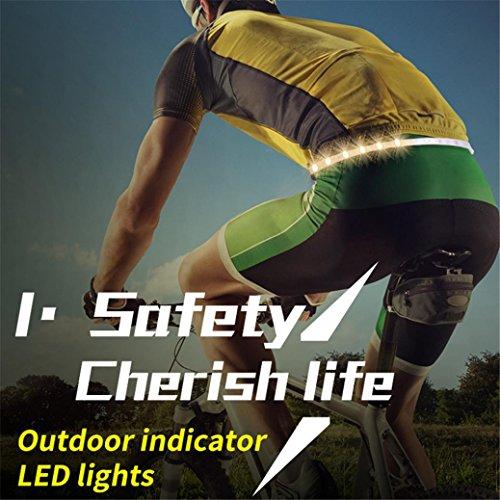 (LED Belt, Remote Control Running Belt USB Rechargeable Safety Belt)