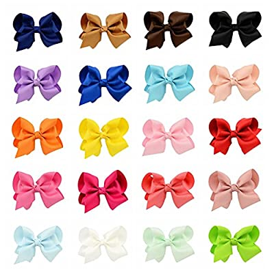 YHXX YLEN 4in Large Hair Bows Clips For Baby Girls Teens Women 20Pcs