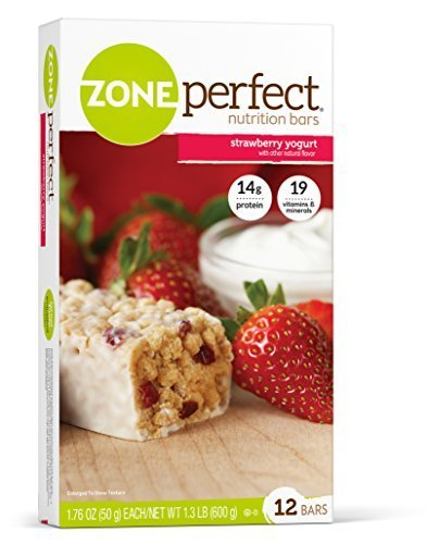 - ZonePerfect Nutrition Bars, Strawberry Yogurt, 1.76-Ounce, 12 Count by Zone Perfect