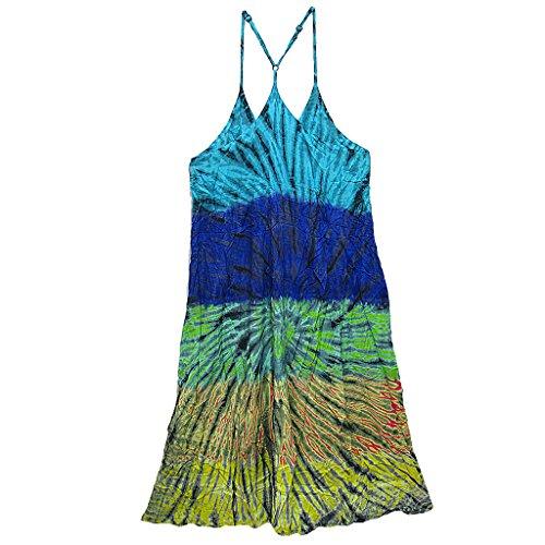 Sangle Spaghetti Tie Dye Robe Longue Des Femmes Coconutwoww