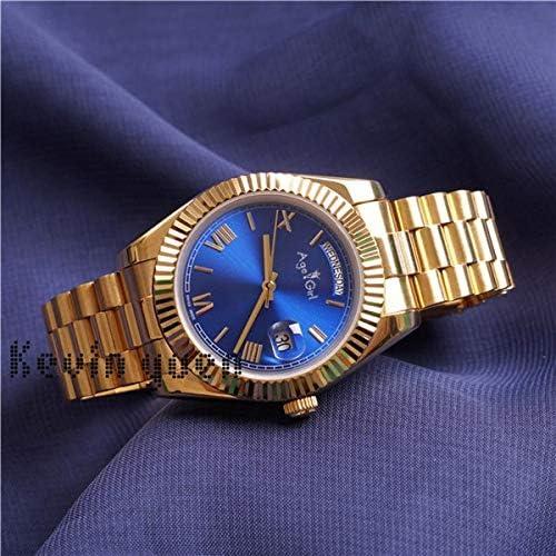 jiao Montre Homme Jaune Or Rose Montre Homme Montre Jour Date président Automatique Montres mécaniques mécanique Noir Vert Gold Blue