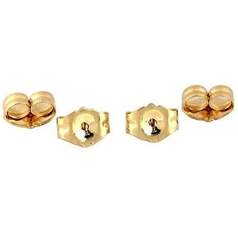 Amazoncom 4 14k Yellow Gold Earring Backs Ear Post Nuts Deluxe