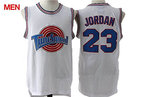 Space Jam Tune Squad Tee Top #23 Jordan Movie Jersey Mens White -