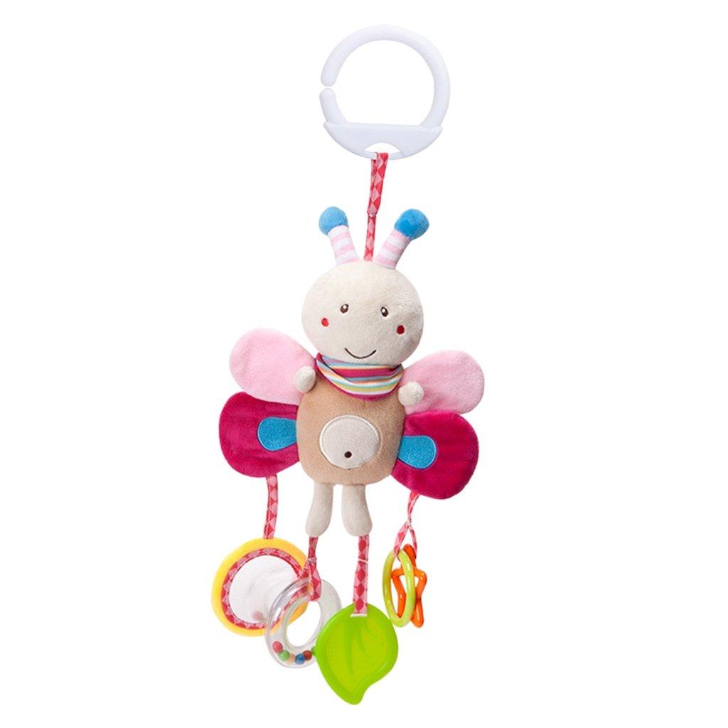 Baoblaze Bébé Hochets Suspendus - Jouet de Lit Berceau Poussette Enfant Jouets Animales en Peluche - Abeille