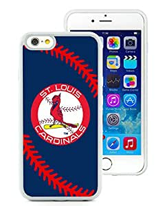 100% brand new St. Louis Cardinals White iPhone 6 (4.7 Inch) TPU Case