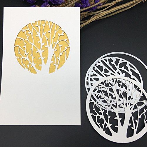 Christmas Tree Ornament Template - Bluelans Metal Cutting Dies Stencil Template for DIY Scrapbook Album Paper Card Craft Decoration (Tree)
