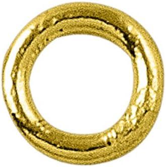 18K Gold Overlay Closed Jump Ring JCG-100-7MM