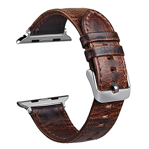 leather Genuine Replacement wristband Horse Coffee