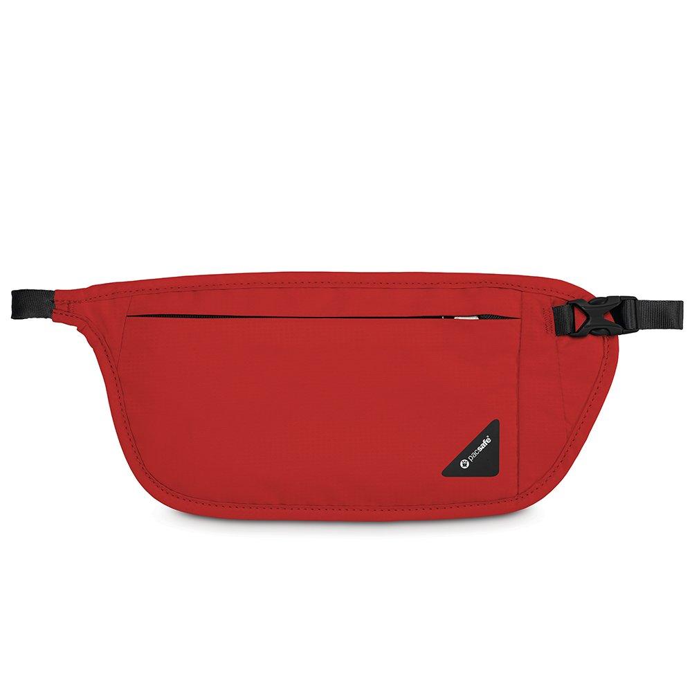 Pacsafe Coversafe V100 Anti-Theft RFID Blocking Waist Wallet, Chili Red