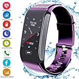 Fitness Tracker HR, Activity Tracker Sports Watch Smart Bracelet with Pedometer Heart Rate Monitor Step Calorie Tracker IP67 Waterproof Call SMS SNS Alert for Men Women Kids Compatible for Android IOS