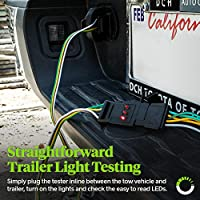 ONLINE LED STORE 4-Way Flat Trailer Wiring Tester Nickel-Plated Copper