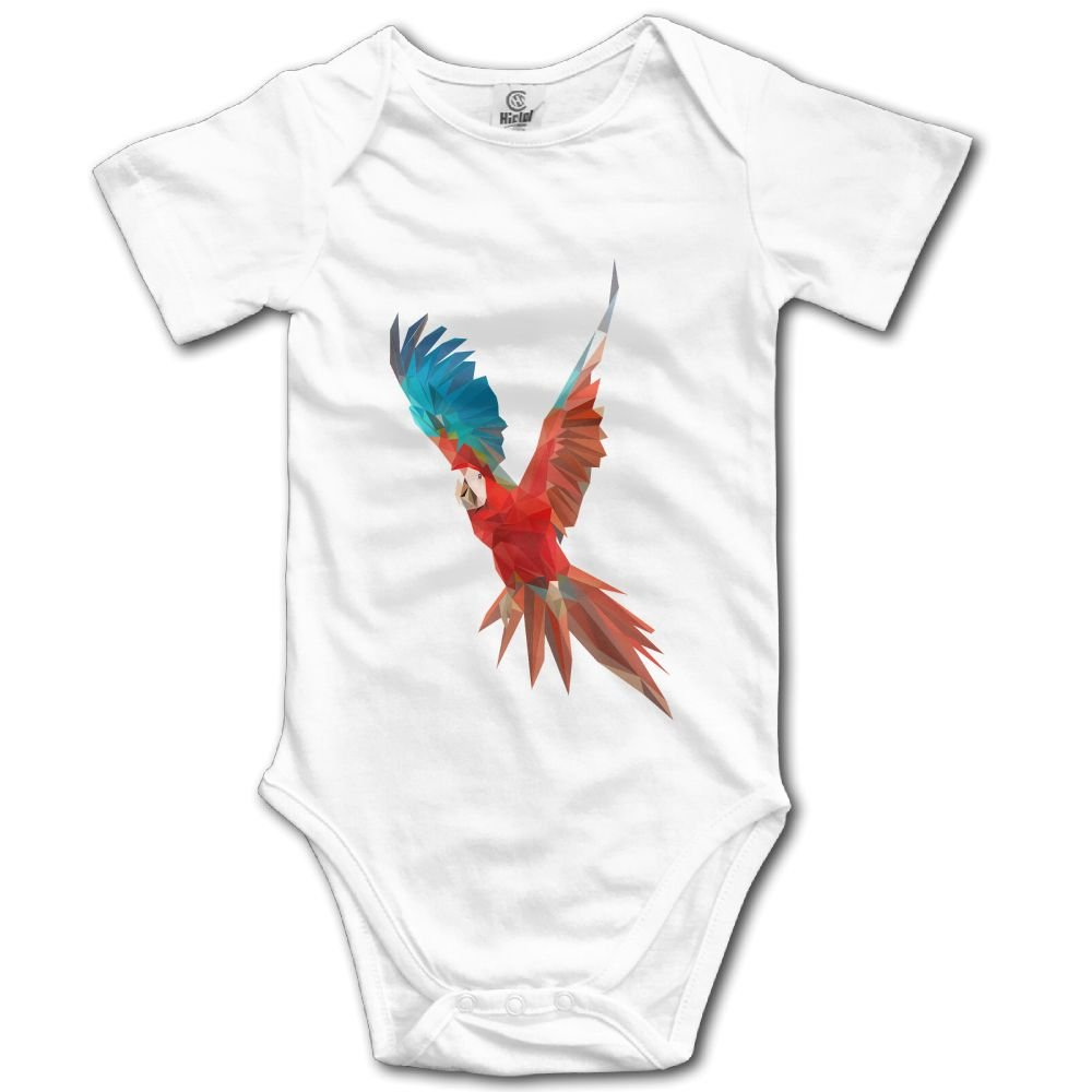 Rainbowhug Parrot Bird Unisex Baby Onesie Cartoon Newborn Clothes Concise Baby Outfits Comfortable Baby Clothes