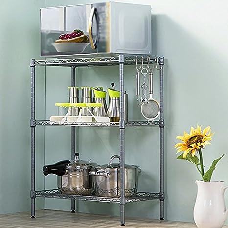 Muebles de cocina Estantes de cocina de gran capacidad simple Soporte de frutas y verduras Estantería
