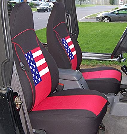 Gearflag Jeep Wrangler TJ Neoprene Seat Cover Custom Fit 1997 02 (Front +  Rear