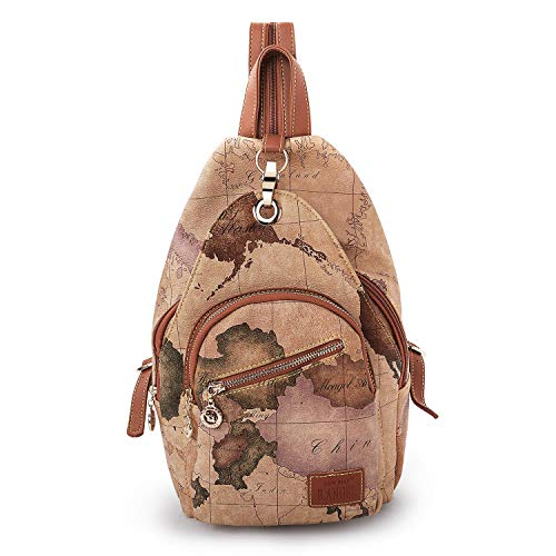 (Stylish Backpack for Women Vintage Style Map Shoulder Bags Travel Casual Daypack)