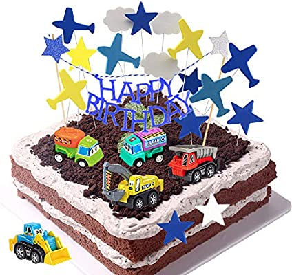 Amazing Daypicker Car Cake Topper Happy Birthday Cake Topper Car Funny Birthday Cards Online Fluifree Goldxyz