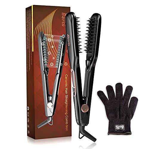 BERTA Ceramic Hair Straightener Brush Comb Clamp Negative io