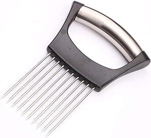 HanleyDepot Onion Slicer Holder Stainless Steel, Vegetable Holder for Slicing