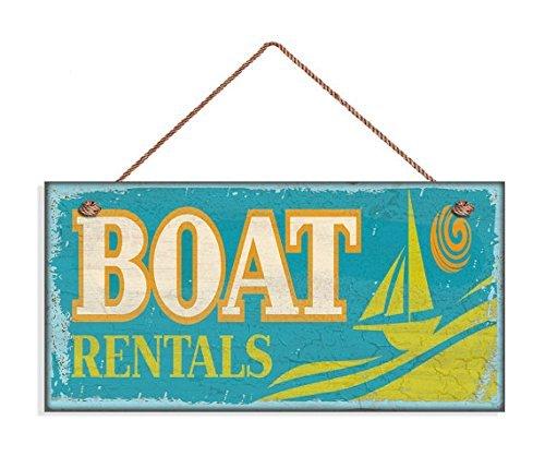 Alquiler de barco señal, señal de playa erosionado ...