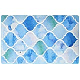 HOMEE European style blue the mediterranean rectangle home carpet living room coffee table sofa carpet bedroom bedside foot pad,140200Cm