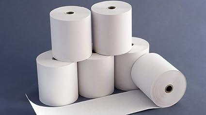 10 rollos térmicos, 80 mm x 80 m x 12 mm: Amazon.es: Oficina y ...