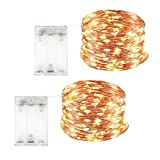String Lights 32.8 ft with 100 LEDs, Waterproof Decorative Lights for Bedroom, Patio, Parties. UL588 and TUVus Approved Copper Wire Lights Warm White