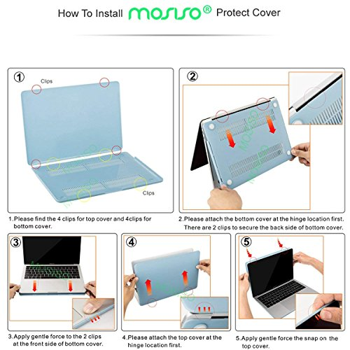 MOSISO MacBook Pro 13 inch Case 2019 2018 2017 2016 Release A2159 A1989 A1706 A1708, Plastic Pattern Hard Shell Case&Keyboard Cover&Screen Protector Compatible with MacBook Pro 13, Jade Marble