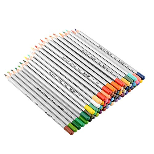 New 48 Color Art Drawing Oil Base Non-toxic Pencils Set For Artist (Halloween Cupcakes For Preschoolers)