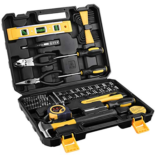 ETEPON 78 Piece Household Tool Kit Set for Home Auto Repair with Tool Box Storage Case ET016 ()
