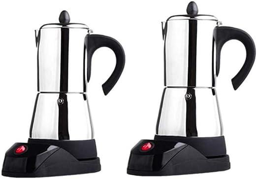 SYSWJ Cafetera 300Ml Stainless Steel Coffee Pot Electric Moka Coffee Maker Teapot Stovetop Tool Filter Percolator,200Ml: Amazon.es: Hogar