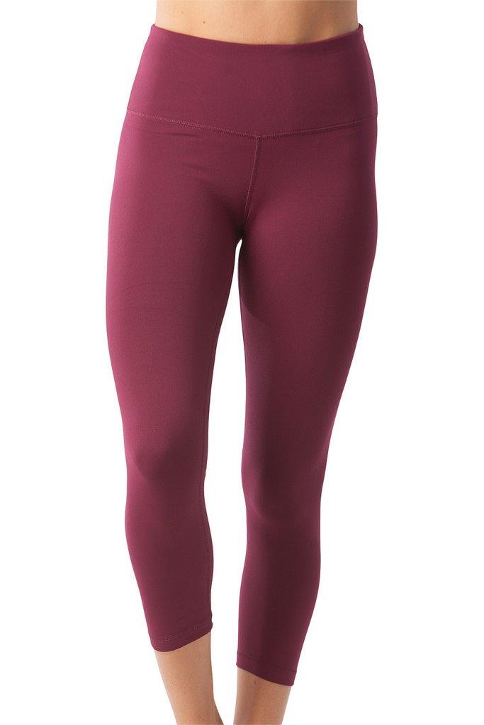 5aea8cf044 Galleon - 90 Degree By Reflex – High Waist Tummy Control Shapewear – Power  Flex Capri - Cherry Jubilee - Large