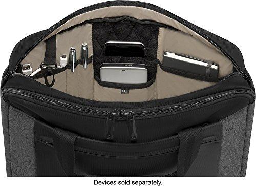 SwissGear Wenger Underground Messenger Briefcase With 16'' Laptop Pocket Black-Grey by Wenger (Image #2)