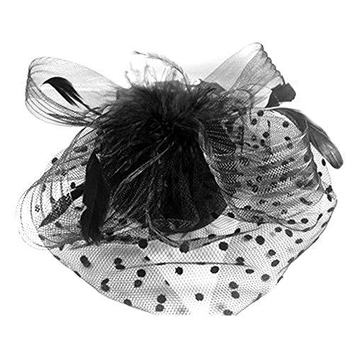 abd527fec50e7 60%OFF Vococal Mini Sombrero de Copa con Pluma de Malla Velo Fascinator  Neto