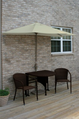 Terrace Mates Genevieve 42 in. 5 Pc Folding Sunbrella Set (Antique Beige)