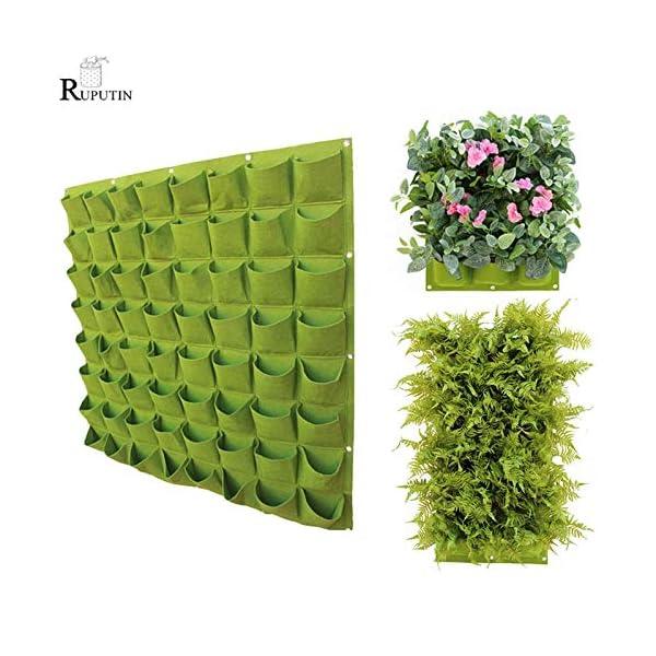 GETSO Wall Hanging Piantare Borse 24 Dimensioni Tasche Verde coltiva Il Sacchetto Planter Verticale Orto Living Bonsai… 2 spesavip