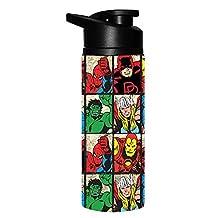 Marvel Comics Grid 25oz Stainless Water Bottles Spider-Man Hulk Iron Man