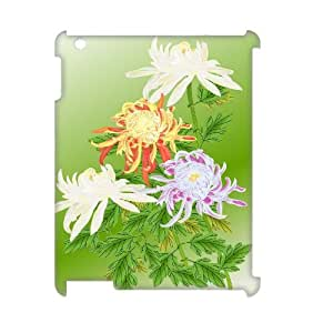SYSD Fashionable IPad 2,3,4 Cover Custom Case Chrysanthemum,customized 3D case KJ772019