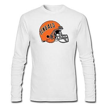 De equipo de fútbol americano Cincinnati Bengals camiseta de manga larga T-Shirt para hombre blanco Blanco blanco Talla:XL: Amazon.es: Deportes y aire libre
