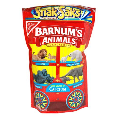 Nabisco Barnums Animals Crackers Snak-Saks, 8 oz ()