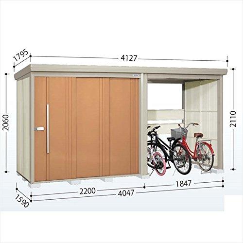 タクボ物置 TP/ストックマンプラスアルファ TP-40R15 一般型 標準屋根 『駐輪スペース付 屋外用 物置 自転車収納 におすすめ』 トロピカルオレンジ B00V5L3SS4