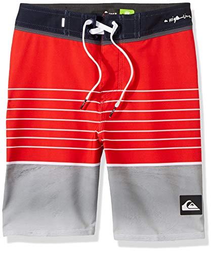 Quiksilver Big Boys' Highline Slab Youth 17 Boardshort Swim Trunk, high Risk red, 28/14 ()
