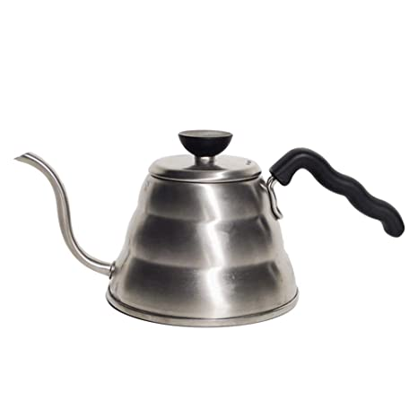db292c9c52c Amazon.com: Hario V60 Buono Stainless Steel Gooseneck Coffee Kettle,  Stovetop (1 liter / 1000ml), : Kitchen & Dining