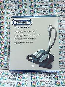 DeLonghi - 5 bolsas + 1 filtro para aspiradora Orbit XTD3095 XTD3080 XTD3071 XTD: Amazon.es: Hogar