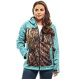 TrailCrest Women's Softshell Jacket, Ultra Soft Plush Lining Mossy Oak Camo Patterns (Teal Heather - Medium)