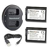 NP-FW50 NEWMOWA REEMPLAZO BATERÍA (2 PAQUETES) Y DUAL USB CHARGER para Sony NP-FW50 y Sony Alpha a3000, Alpha a6000, A6300, Cyber-shot DSC-RX10