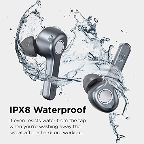Wireless Earbuds | Boltune Bluetooth 5.0 Earbuds | 40 Hr Playing Time | USB-C Quick Charge | IPX8 Waterproof |Stereo Sound Deep Bass Bluetooth Headphones | Built-in Mic - Grey 10
